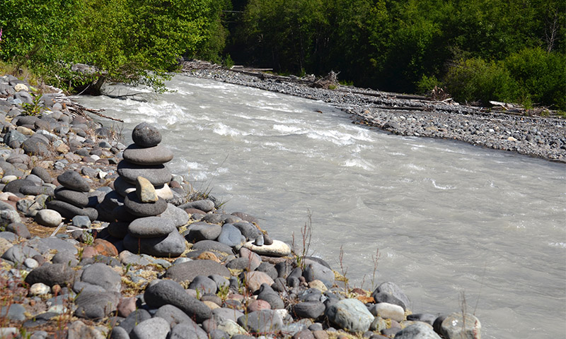 Upper White River flowing rapidly.